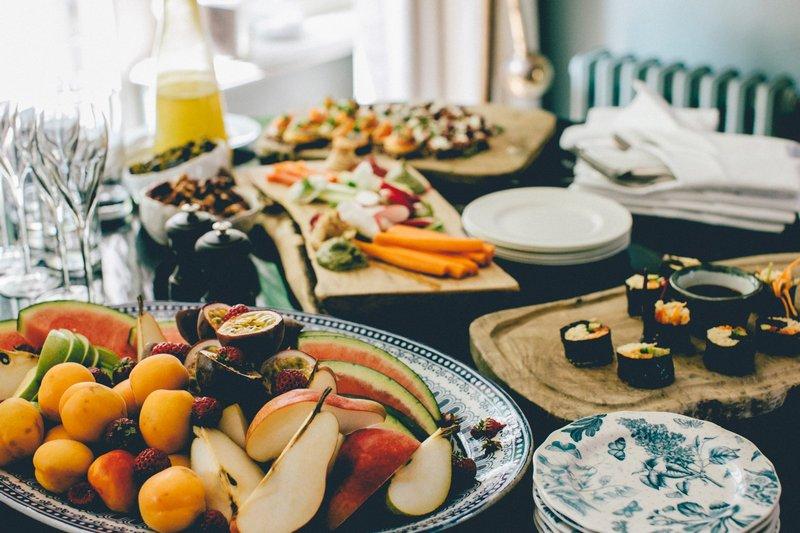 Pięknie podane jedzenie